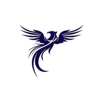 Logo dell'icona di falcon wings logo template vettoriale