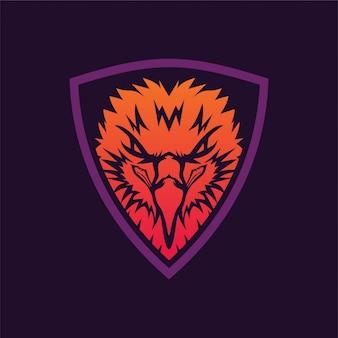 Logo dell'illustrazione della testa dell'aquila