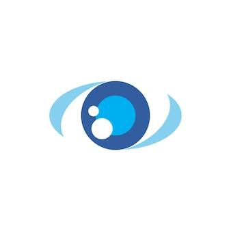 Logo dell'occhio azzurro