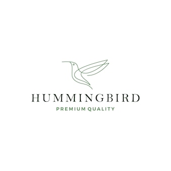 Logo dell'uccello colibri colibrì