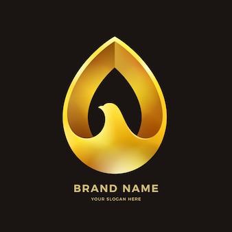 Logo dell'uccello d'oro