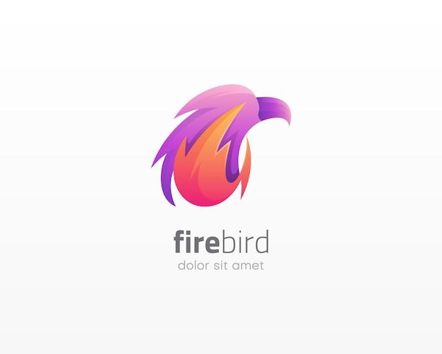 Logo dell'uccello di fuoco