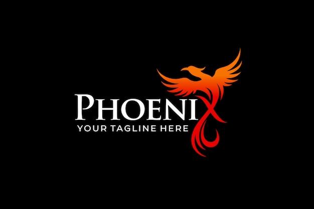 Logo dell'uccello phoenix