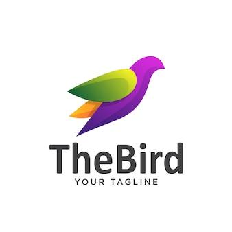 Logo dell'uccello semplice sfumatura colorata