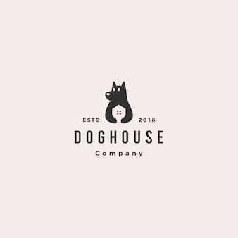 Logo della casa dell'animale domestico della casa del cane