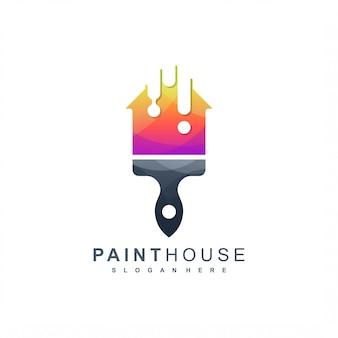 Logo della casa di vernice pronto per l'uso