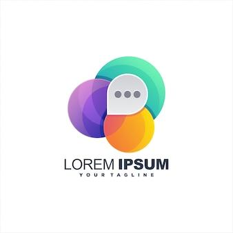 Logo della chat gradiente impressionante