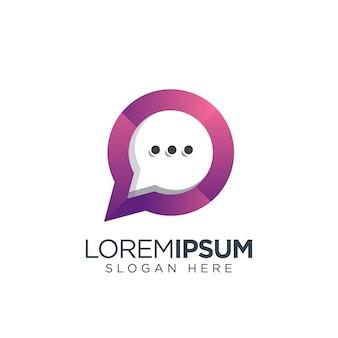 Logo della chat moderno