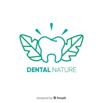 Logo della clinica dentistica piatta