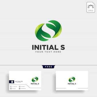 Logo della foglia di lettera s.