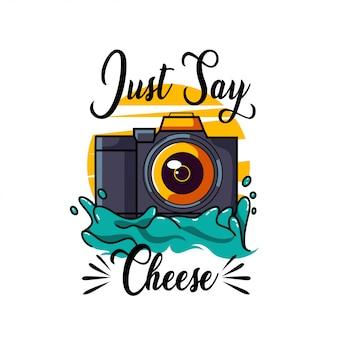 Logo della fotocamera dslr per il design della maglietta