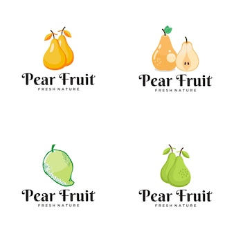 Logo della frutta della pera