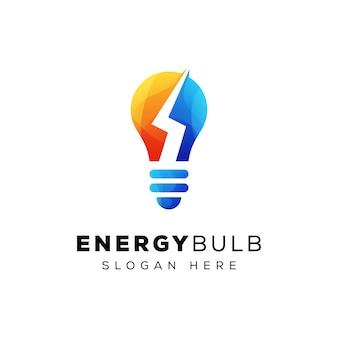 Logo della lampadina di tuono
