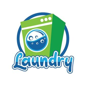 Logo della lavanderia per il tuo business