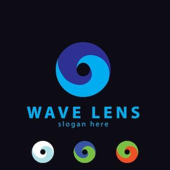 Logo della lente wave cerchio