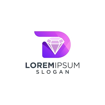 Logo della lettera d diamante