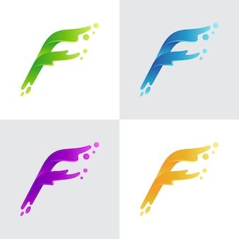Logo della lettera iniziale f
