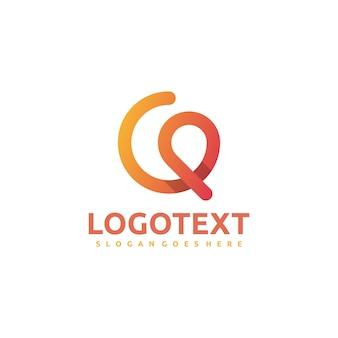 Logo della lettera q astratta