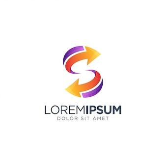 Logo della lettera s impressionante