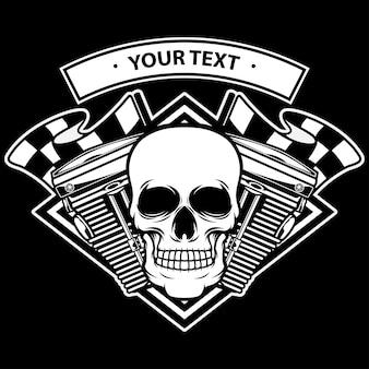 Logo della macchina con testa di teschio