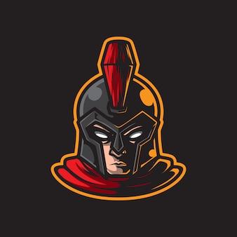 Logo della mascotte classica testa di guerriero
