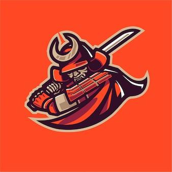 Logo della mascotte combattente