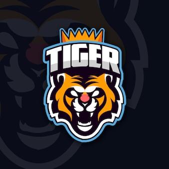 Logo della mascotte con tigre