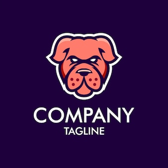 Logo della mascotte del cane