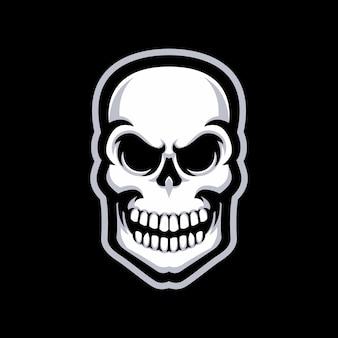 Logo della mascotte del cranio isolato