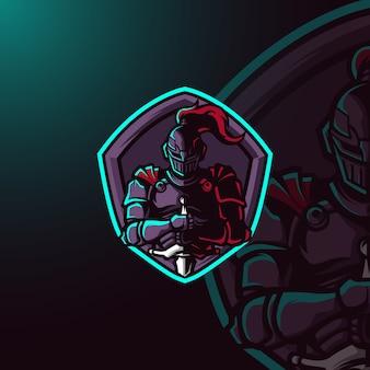Logo della mascotte del guerriero e-sport