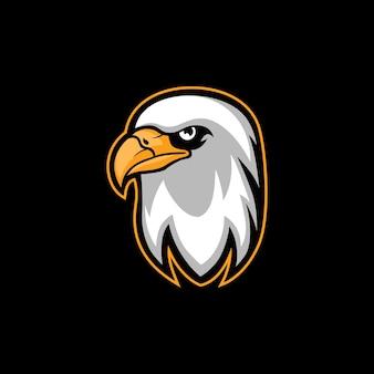 Logo della mascotte dell'esportazione dell'illustrazione di vettore dell'aquila del falco
