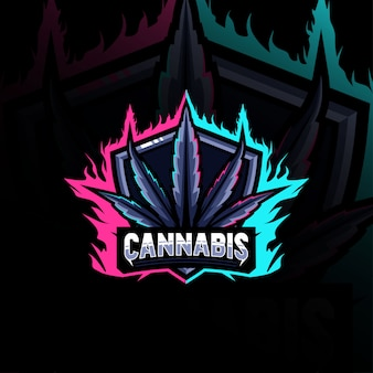 Logo della mascotte della cannabis