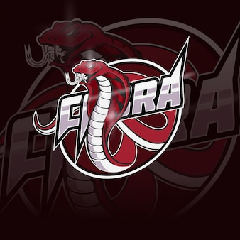 Logo della mascotte della squadra di e-sport cobra