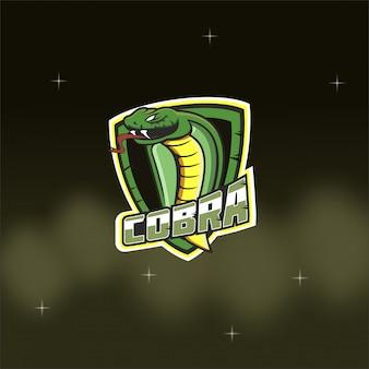 Logo della mascotte della squadra di e-sport king cobra