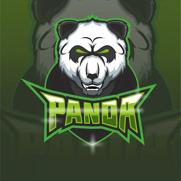 Logo della mascotte della squadra di e-sport panda