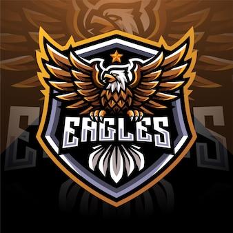 Logo della mascotte di eagle esport