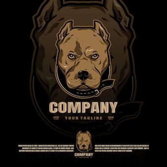 Logo della mascotte di pitbull