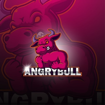 Logo della mascotte di tori esport