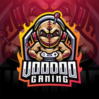 Logo della mascotte di voodoo gaming esport