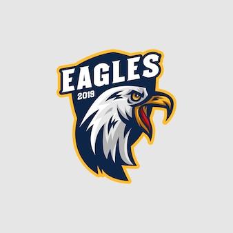 Logo della mascotte eagles