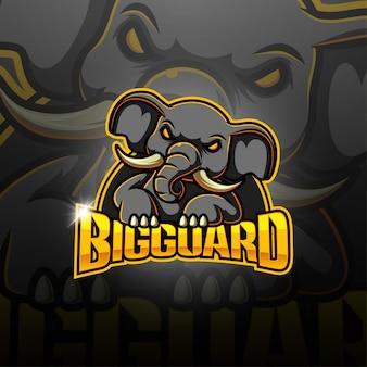 Logo della mascotte esport di big guard