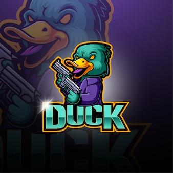 Logo della mascotte esport duck
