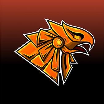 Logo della mascotte esport testa di horus