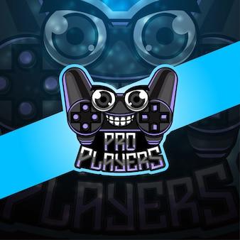 Logo della mascotte esportatori pro players