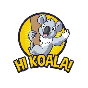Logo della mascotte koala amichevole
