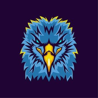 Logo della mascotte moderna testa d'aquila