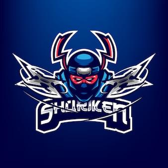 Logo della mascotte ninja