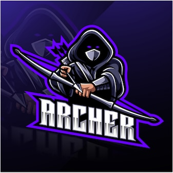 Logo della mascotte sport archer