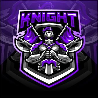 Logo della mascotte sport cavaliere