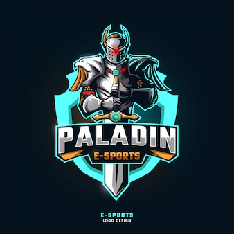 Logo della mascotte sport paladin